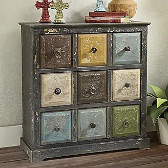 Distressed Apothecary Style Cabinet From Seventh Avenue ®