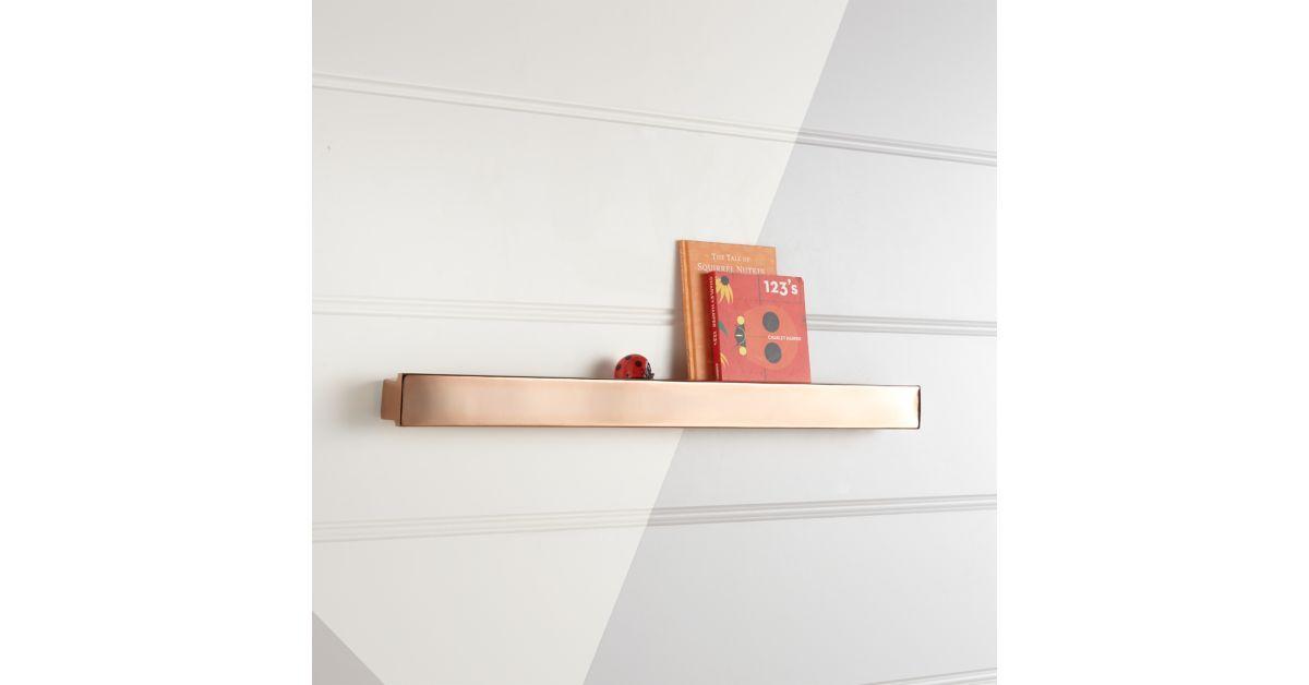 Metallic Rose Gold Wall Shelf