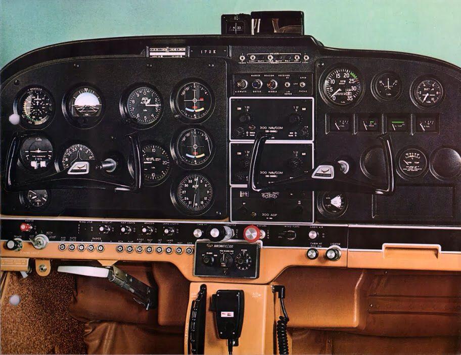 1969 Cessna 172K Instrument Panel | Aviation | Cessna 172
