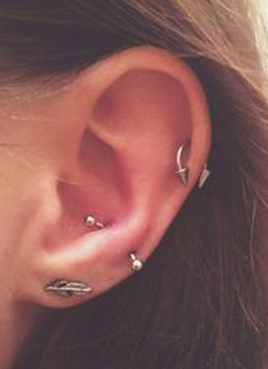 Qwalit Daith Rook Earrings 16g Surgical Steel Cartilage Conch