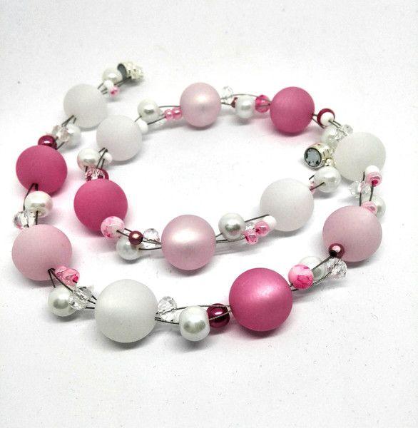 ketten kurz kette rosa wei e polariskette rose 3 f den ein designerst ck von oase der perlen. Black Bedroom Furniture Sets. Home Design Ideas