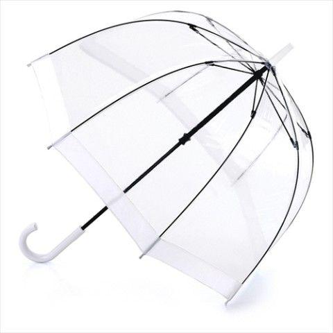 【英国王室御用達】高級ビニール傘/ホワイト【FULTON/フルトン】