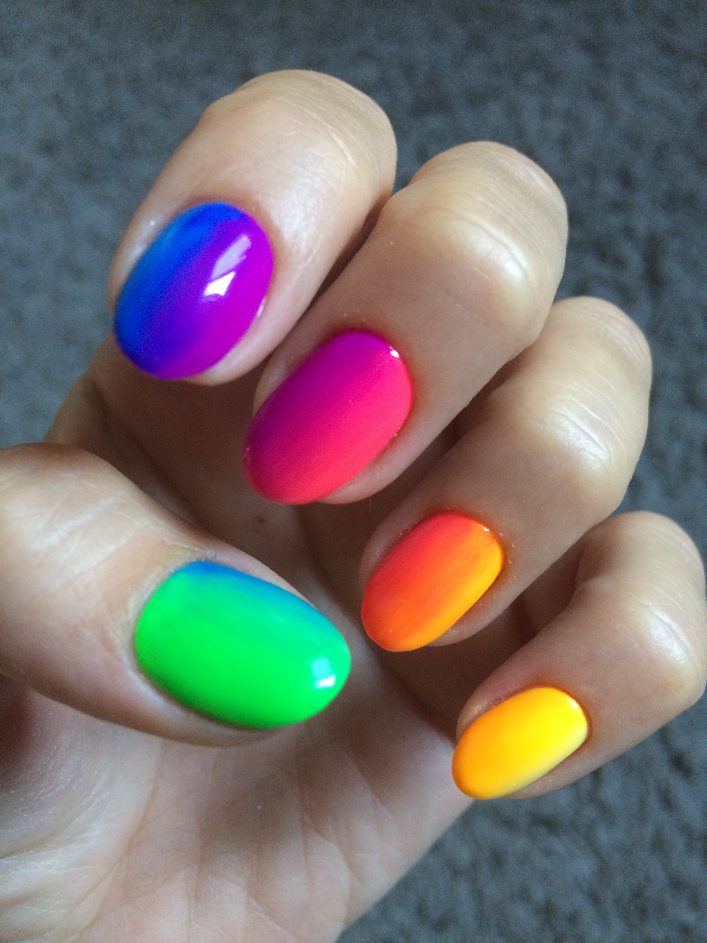 45 Charming Multicolor Simple Nail Art Designs Ombre Nails Rainbow Nails Summer Nails Spring Na Rainbow Nails Rainbow Nails Design Rainbow Nail Art Designs