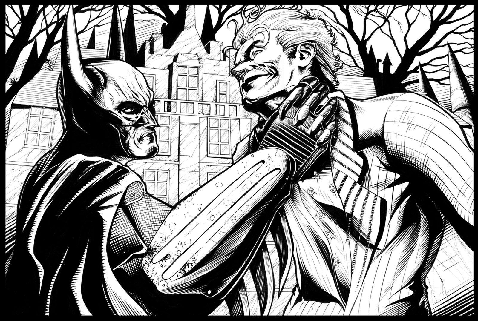 Batman Arkham Asylum By Ashasylum On Deviantart Batman Printables Batman Coloring Pages Batman Arkham Asylum