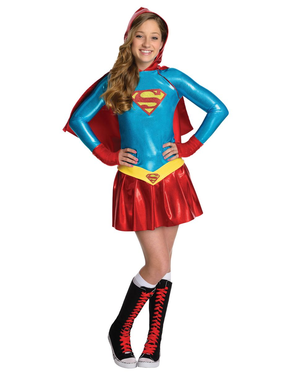 Supergirl Hoodie Girls Costume exclusively at Spirit Halloween ...