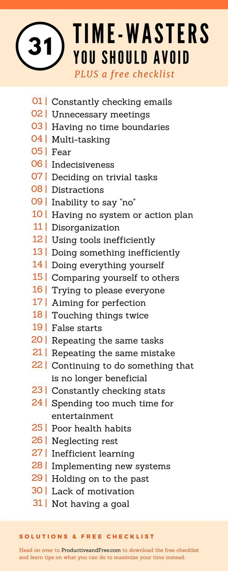 31 Time-Wasters You Should Avoid and What To Do Instead | Free, Time ...