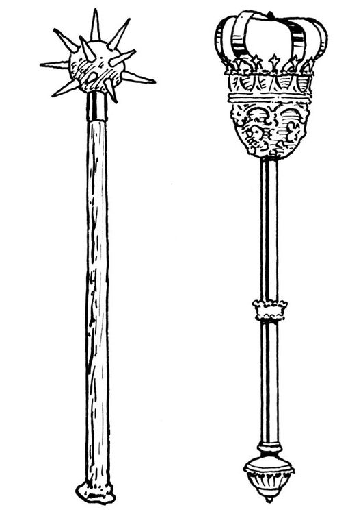 Coloring Page Sword And Sceptre Abstract Coloring Pages Scepter