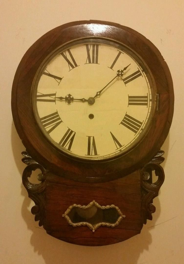 This is an anglo american rosewood wall clock that was made about this is an anglo american rosewood wall clock that was made about it runs good and keeps good time time only the case was made in england while the amipublicfo Image collections