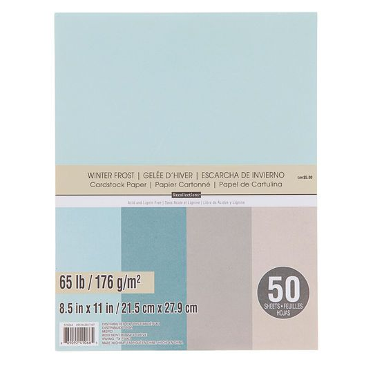 Purchase The Winter Frost Cardstock Paper Value Pack By
