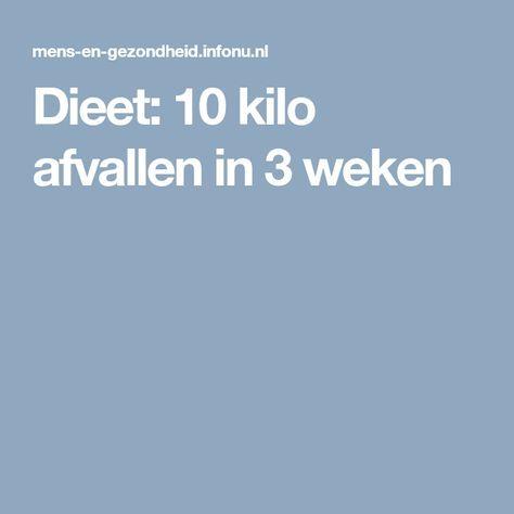 10 kilo afvallen in 10 weken dieet