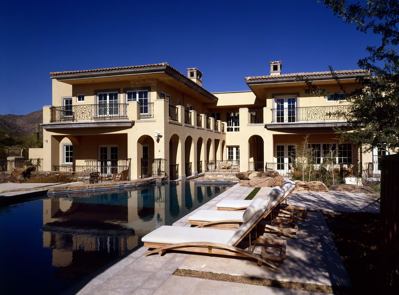 AZ Custom Built California Spanish Revival Home Arizona Luxury - Luxury home builders in california