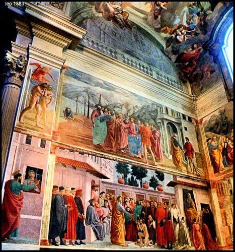 Now THAT'S graffiti. Cappella Brancacci in Santa Maria del Carmine dated 1450. #Florence