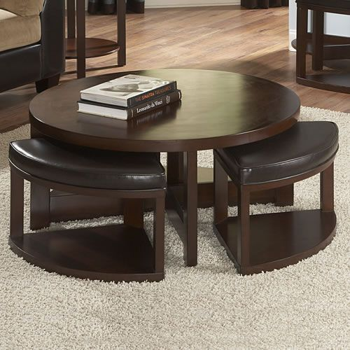 Coffee Table With 4 Pull Out Ottomans Occasional Discount