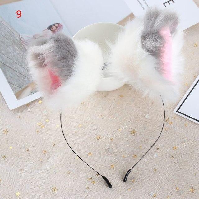 Photo of Hot Cosplay Costume Fox Plush Hair Hoop Women Fashion Cat Ears Anime Headbands Hairpin Girls Bow Tie Party Hair Accessories – 9