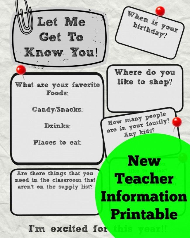 Worksheet Get To Know You Printable get to know the teacher printable info sheet sheet