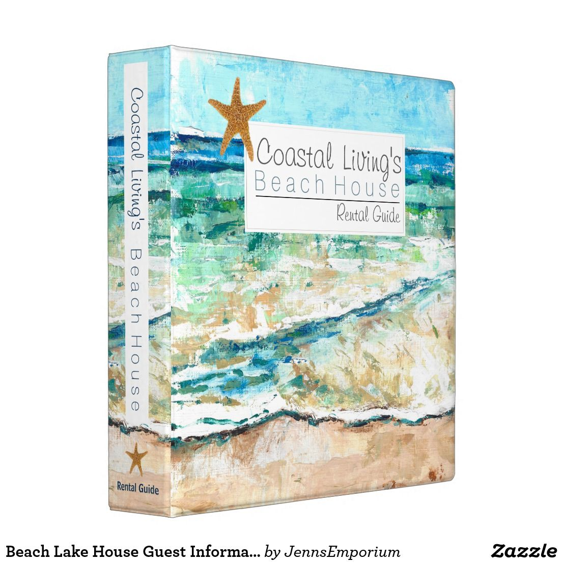 Beach Lake House Guest Information Binder