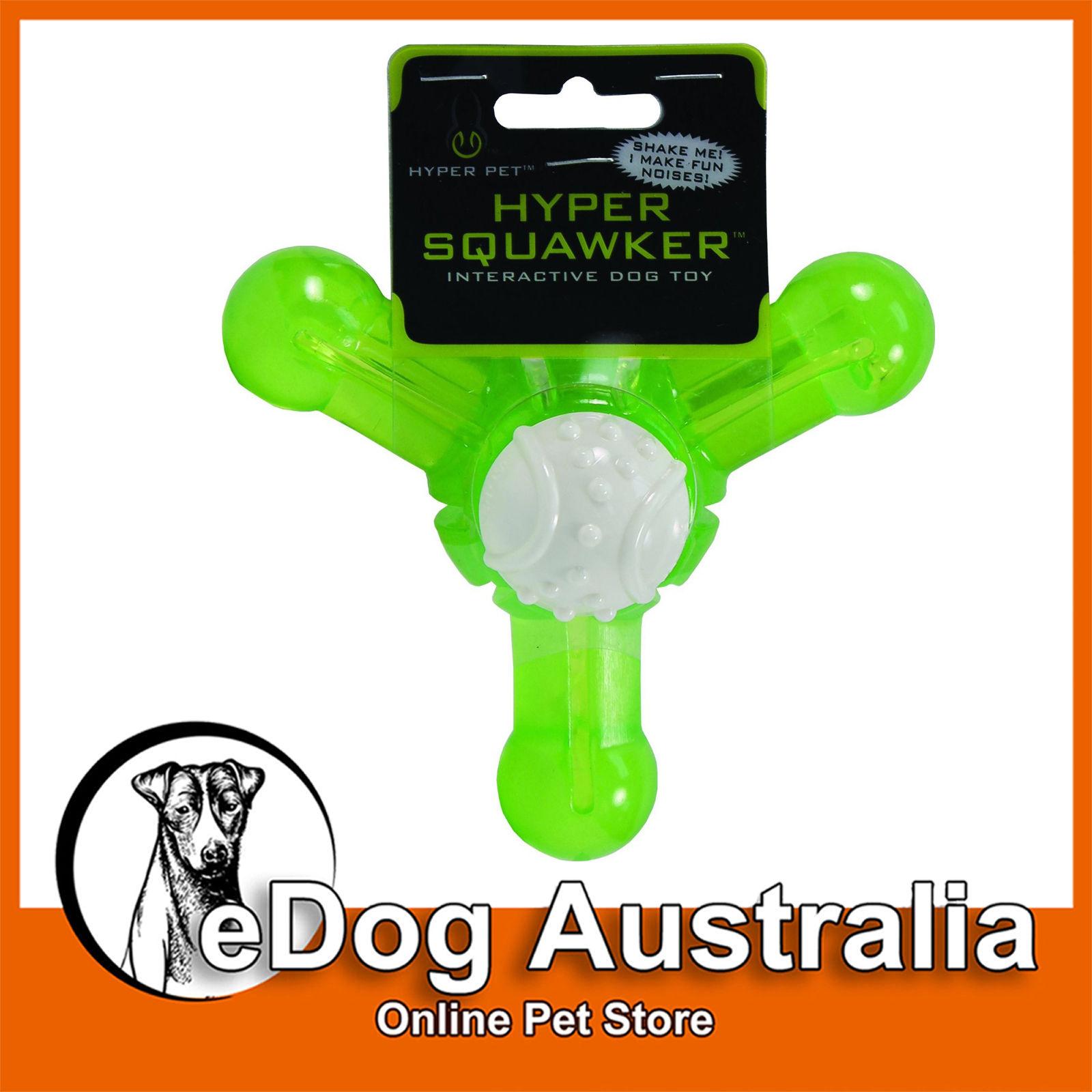 16 2 Aud Hyper Pet Hyper Squawker Jack Dog Chew Toy Green