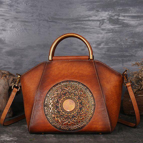 b8e60d4b19ede0 Luxury Women Genuine Leather Handbags Ladies Retro Elegant Shoulder  Messenger Bag Cow Leather Handma