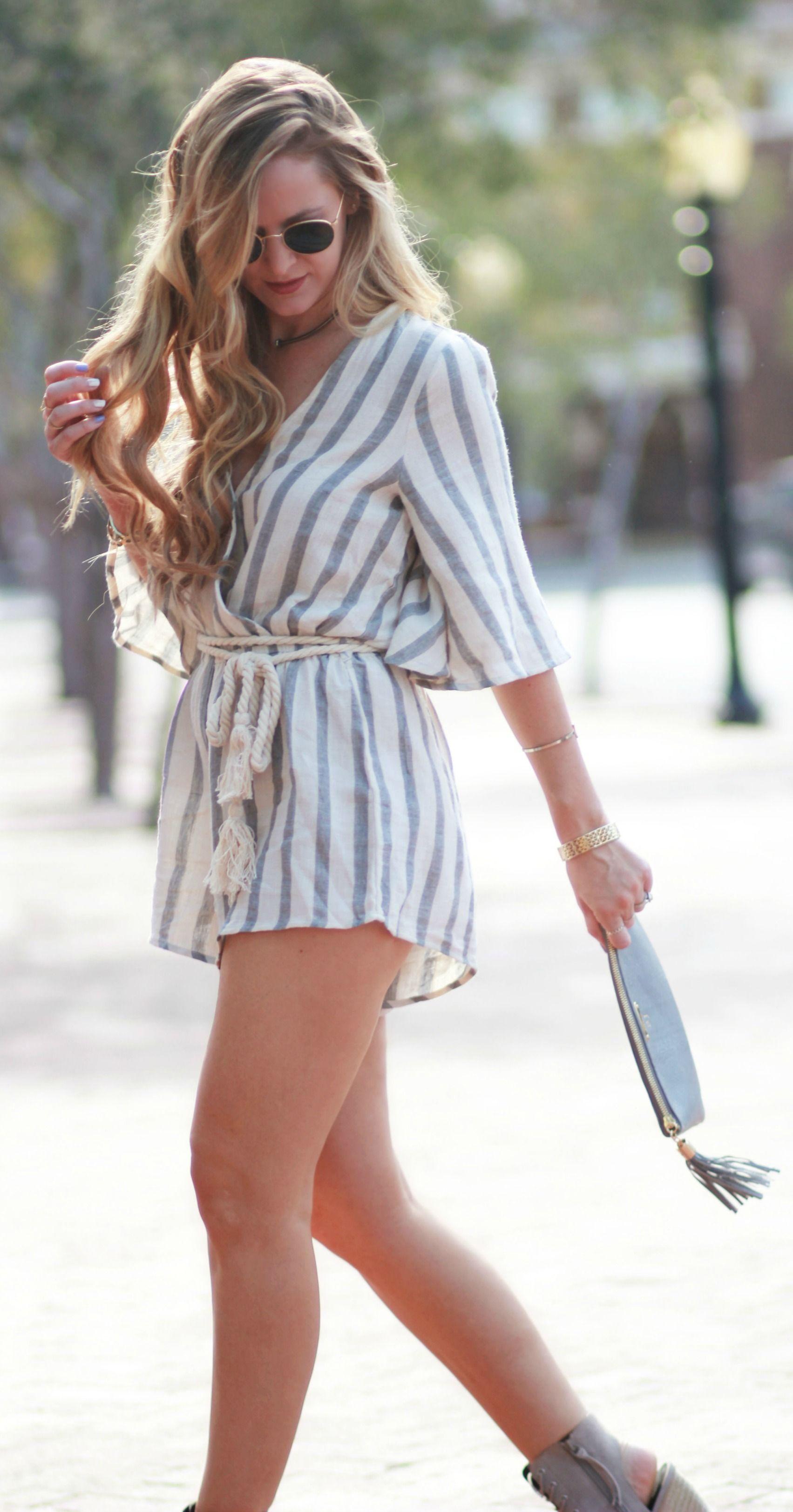 Striped Summer Romer | Rompers | Fashion, Florida fashion