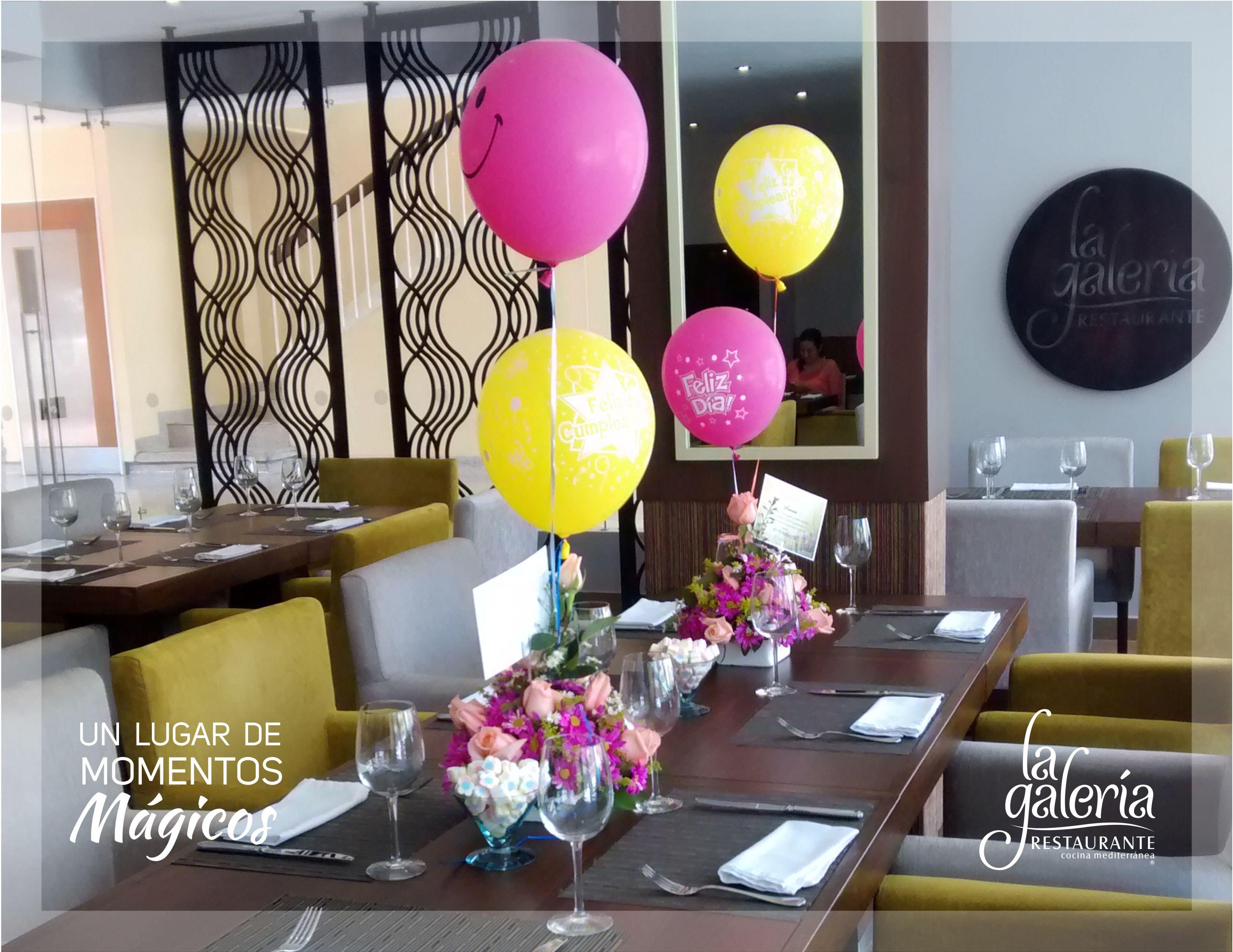 celebra tus cumpleaos en el restaurante la galera decoracin especial en