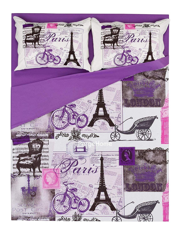 Deconation 100 Cotton Comforter Set Single Twin Full Size Paris
