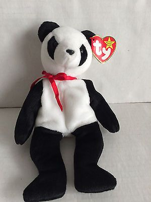 Ty Retired Useful Ty Beanie Baby ~ Fortune The Panda