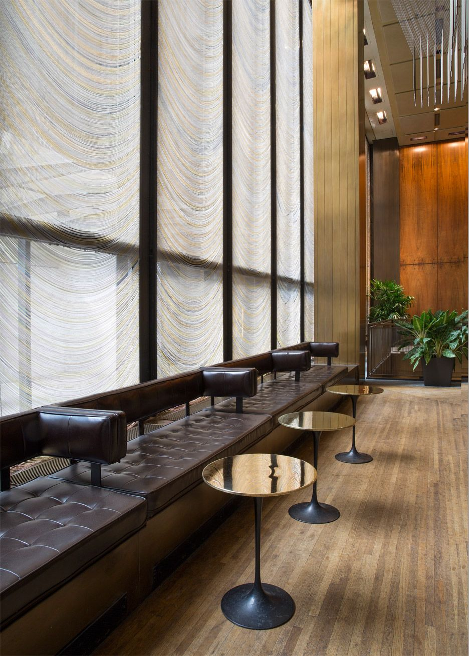 four seasons restaurant by philip johnson and mies van der rohe furniture auction in new york - Restaurant Booths For Sale