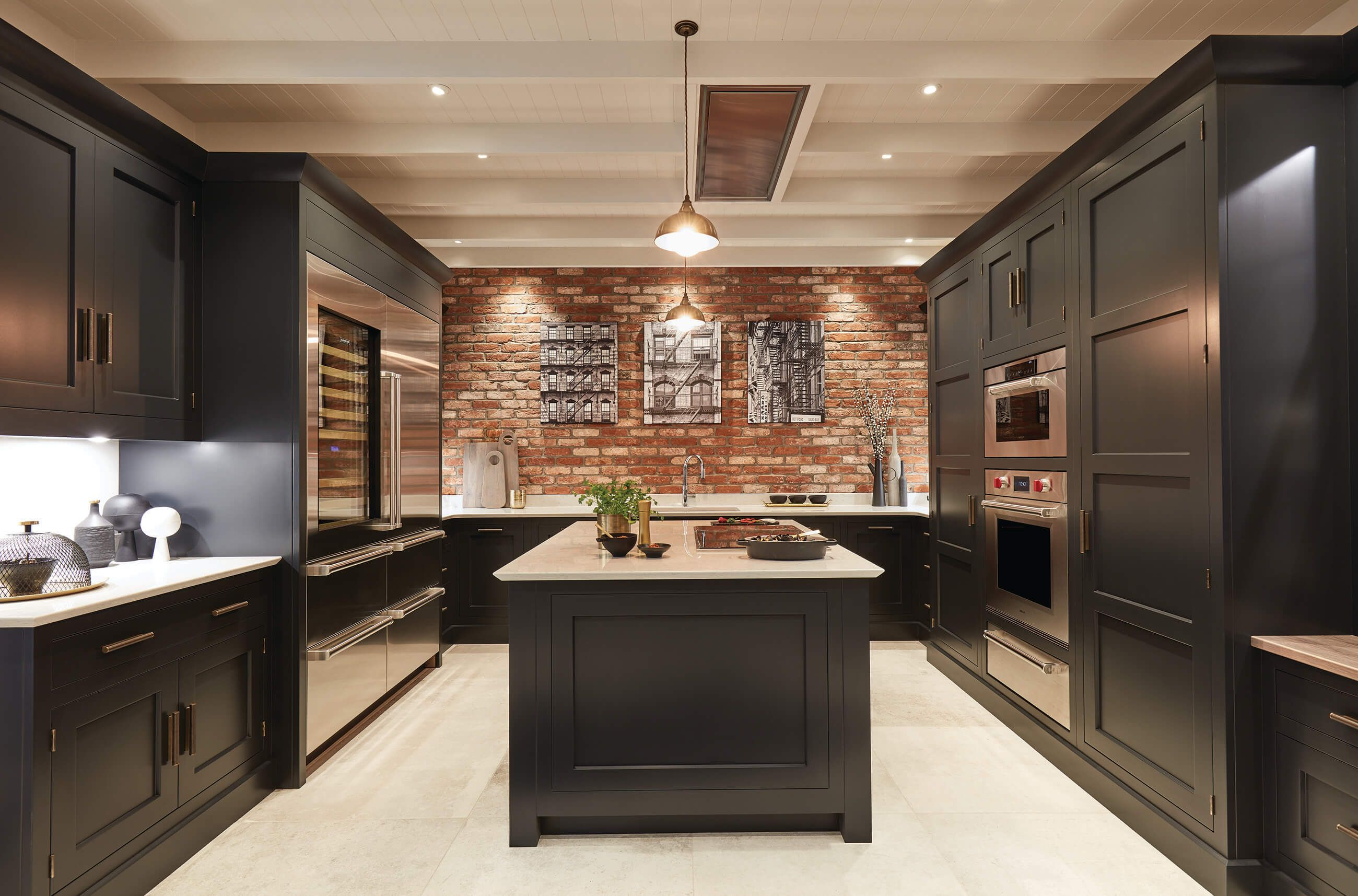 Exposed Brick Kitchen Rustic kitchen design, Exposed