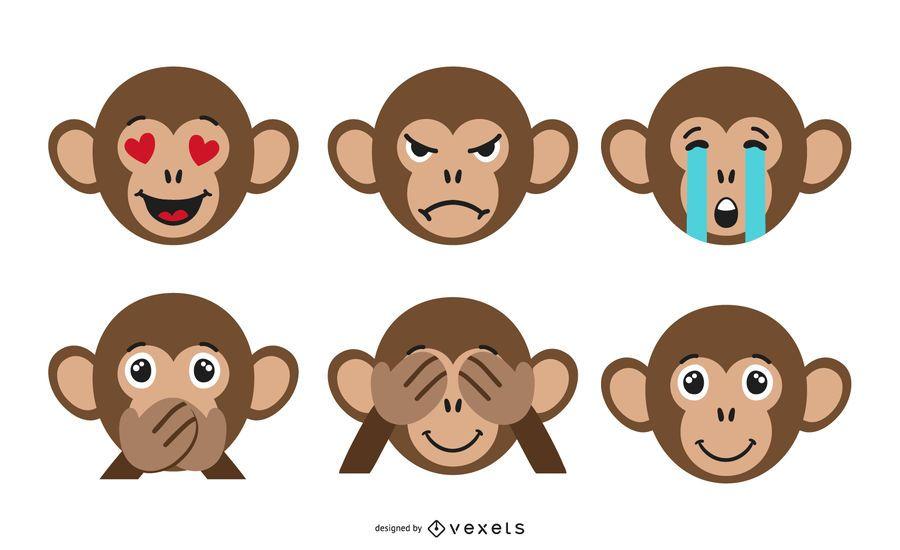 Monkey Emoji Set Ad Affiliate Ad Set Emoji Monkey In 2020 Emoji Set Monkey Emoji Designs To Draw