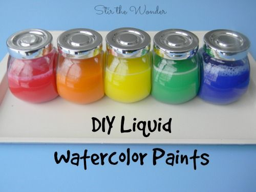 Diy Liquid Watercolor Paint Liquid Watercolor Homemade