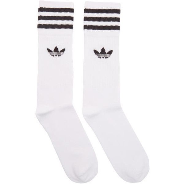 adidas Originals Three Pack White Solid Crew Socks (49 BRL