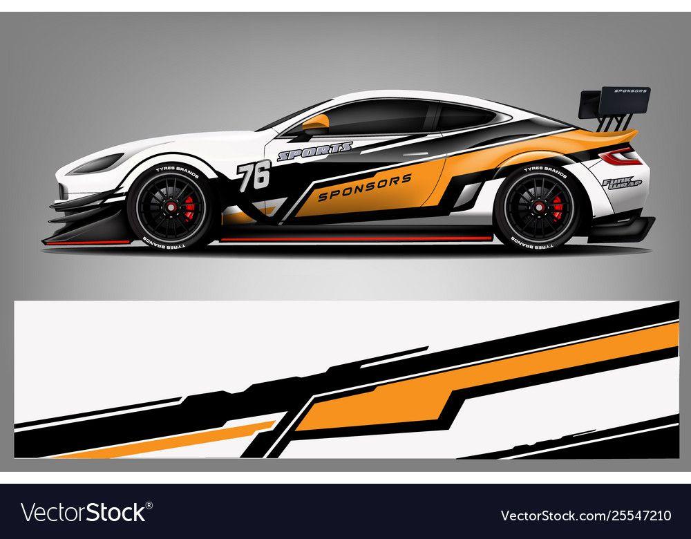 Sport Car Racing Wrap Design Design Royalty Free Vector Affiliate Racing Wrap Sport Тюнингованные автомобили Наклейки на авто Спортивные автомобили