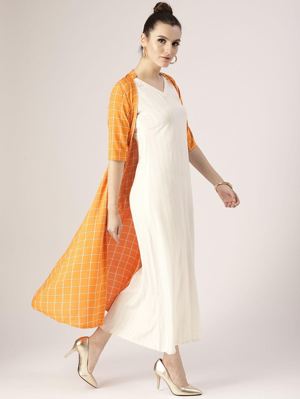 1a1fec92b8 Libas Women White Striped Layered Maxi Dress - Dresses for Women 6824661