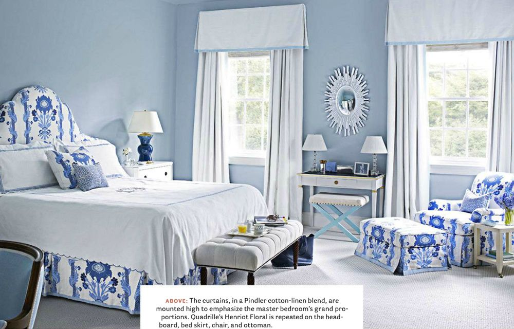 Quadrille Henriot Floral Bed And Chair By Meg Braff In