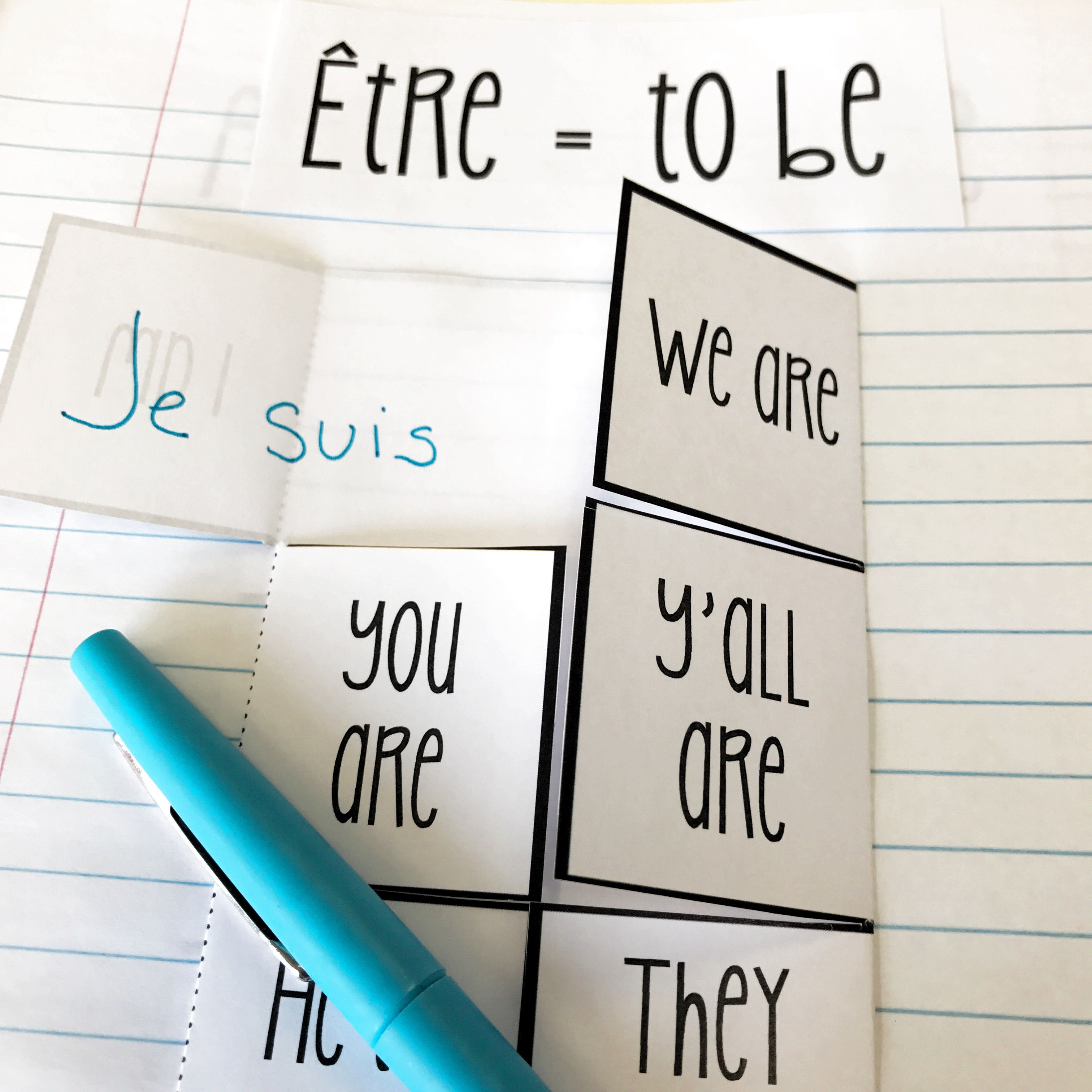 Etre Verb Conjugation French Interactive Notebook Con