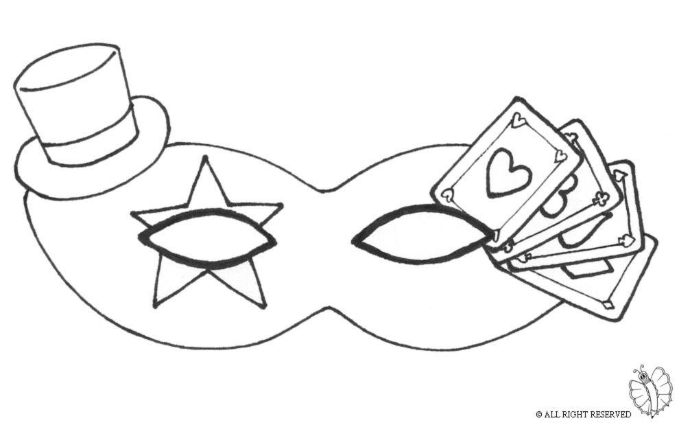 Disegni Di Maschere Di Carnevale Da Colorare.Maschere Di Carnevale Maschera Carnevale Con Cappellino Carnevale Maschera Maschere