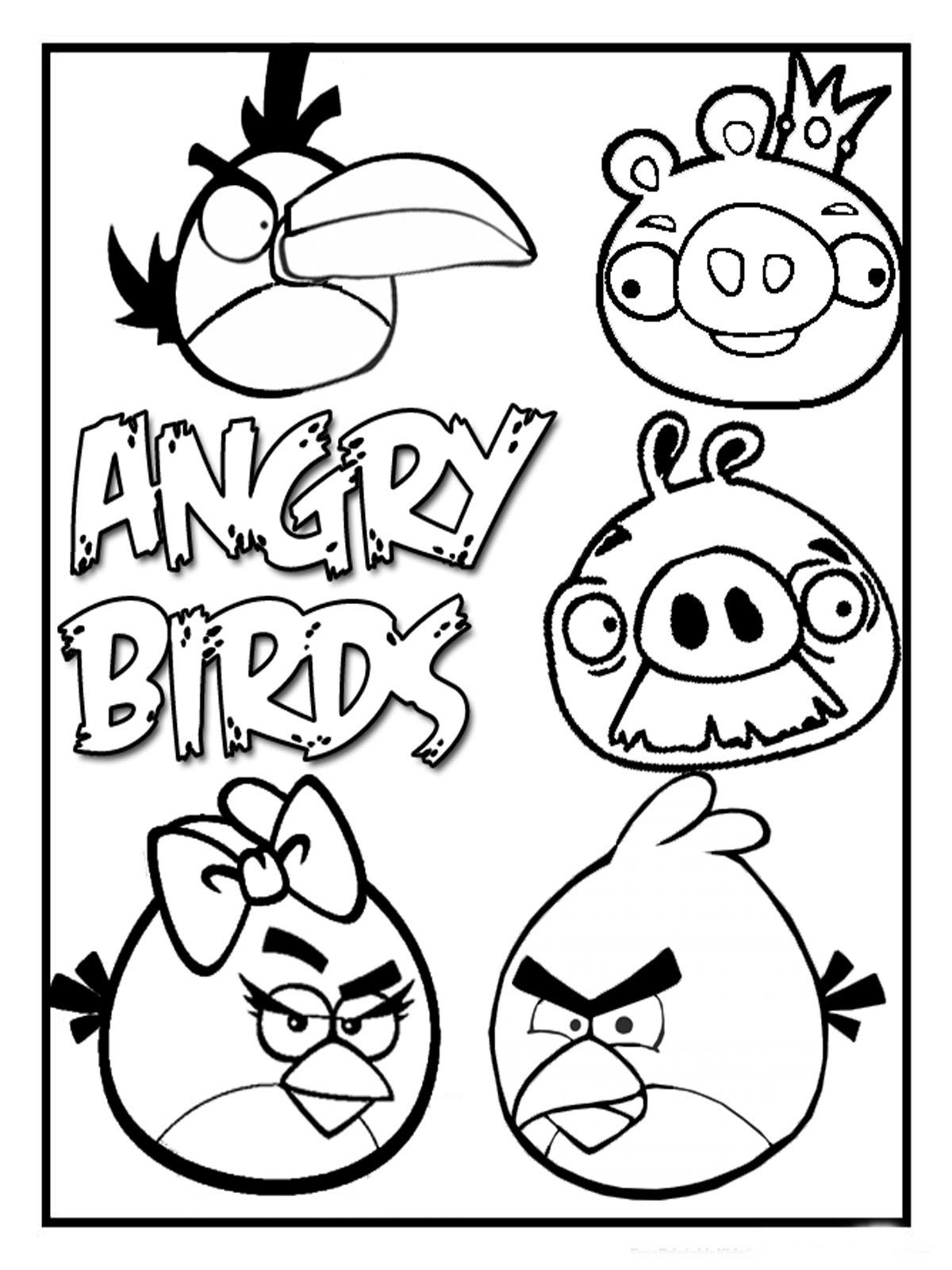 angry birds coloring pages printable httpwwwkidscpcom - Angry Birds Coloring Page