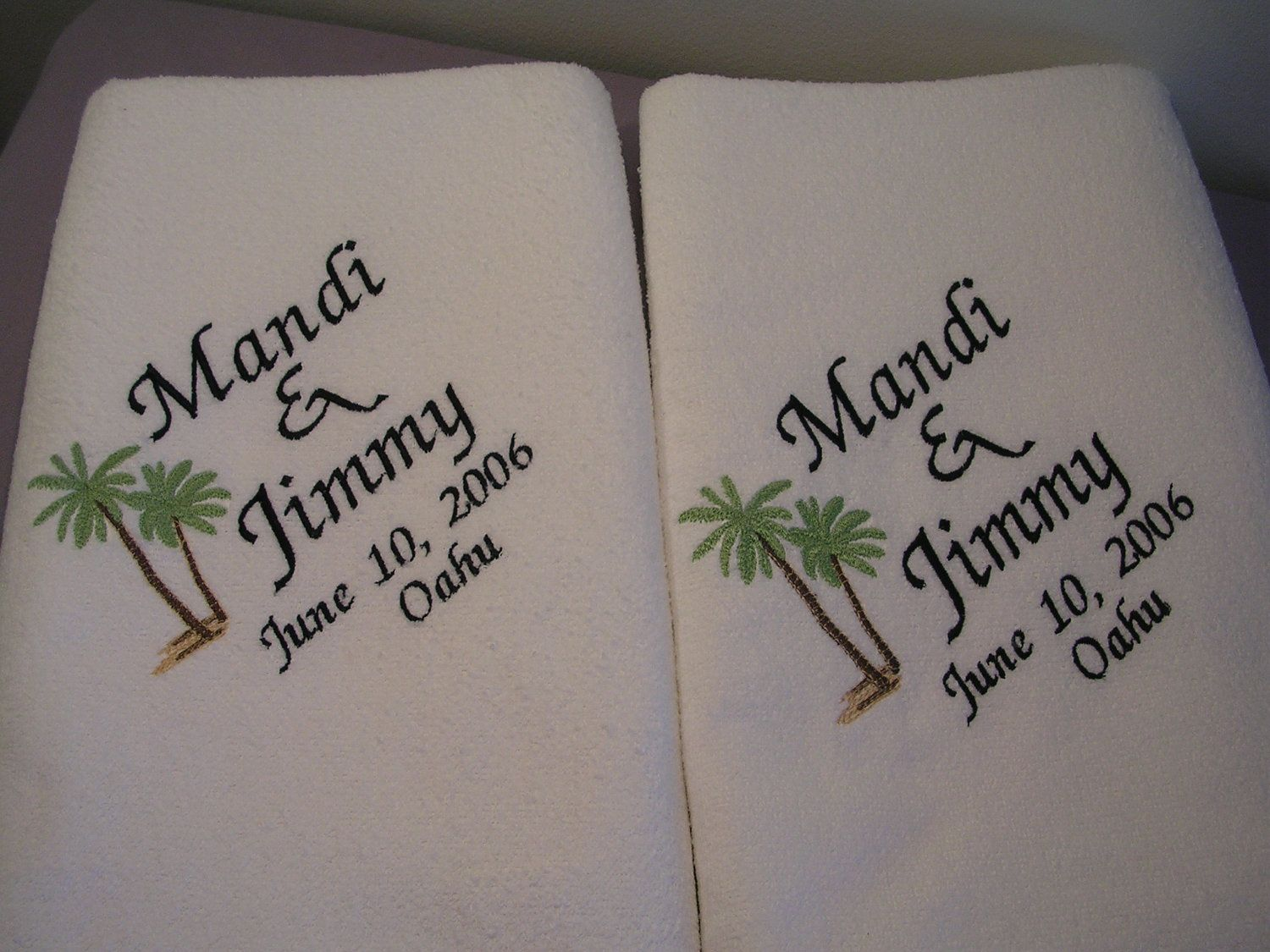 Personalized Wedding Beach Bath Towels 2 For Bride And Groom Gift Honeymoon Bridal Shower 49 99 Via Etsy