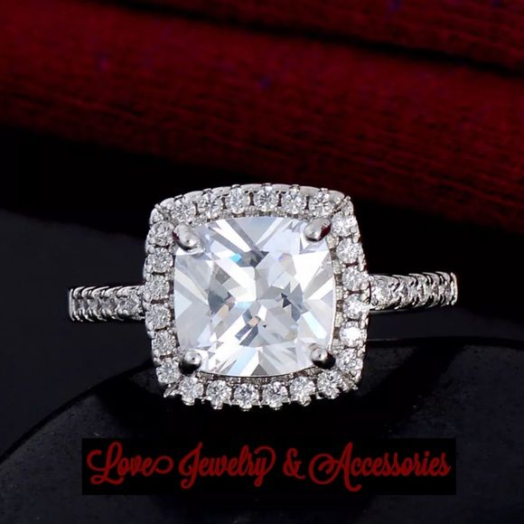 Luxury design S925 Stamped Cubic zirconia Ring New Luxury design S925 Stamped Cubic zirconia Ring size 7 Love's Jewelry & Accessories Jewelry Rings