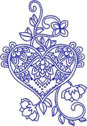 bluework paisley heart embroidery design designs pinterest rh au pinterest com Paisley Tattoo Designs Women Paisley Tattoo Designs Women