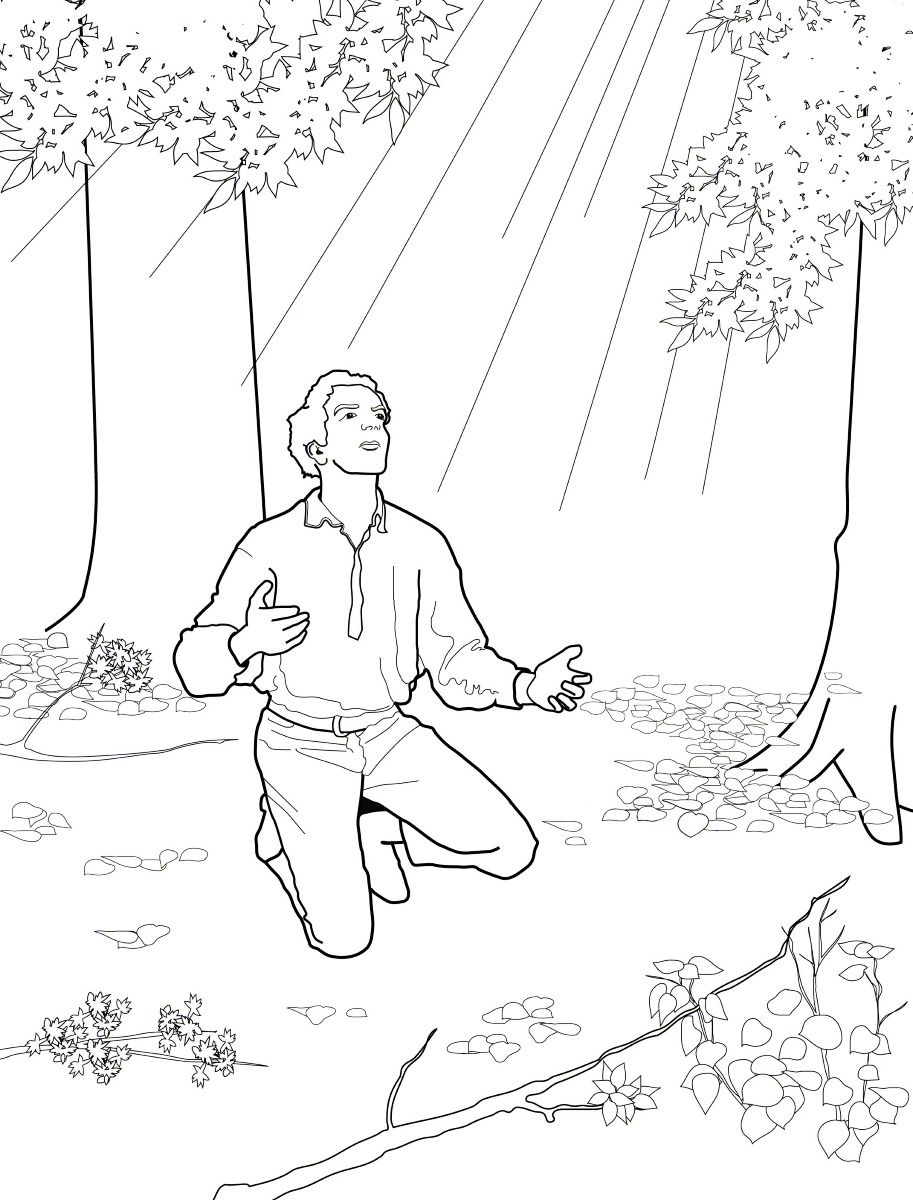 Joseph Smith and the First Vision. Primary Coloring Page #ldsprimary ...