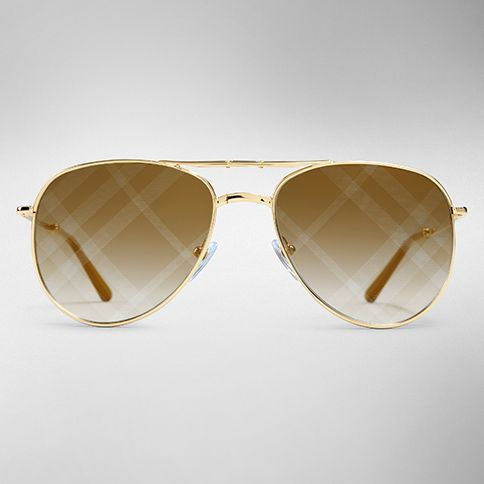 06bfeaefdb8 Metal aviator sunglasses with check detail from the Burberry Spark  Sunglasses collection