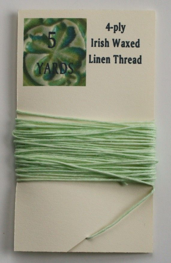 Definitely buying this to make more bracelets this summer! 5 Yards Mint Irish Waxed Linen Thread by WhiteCloverKiln on Etsy, $2.00