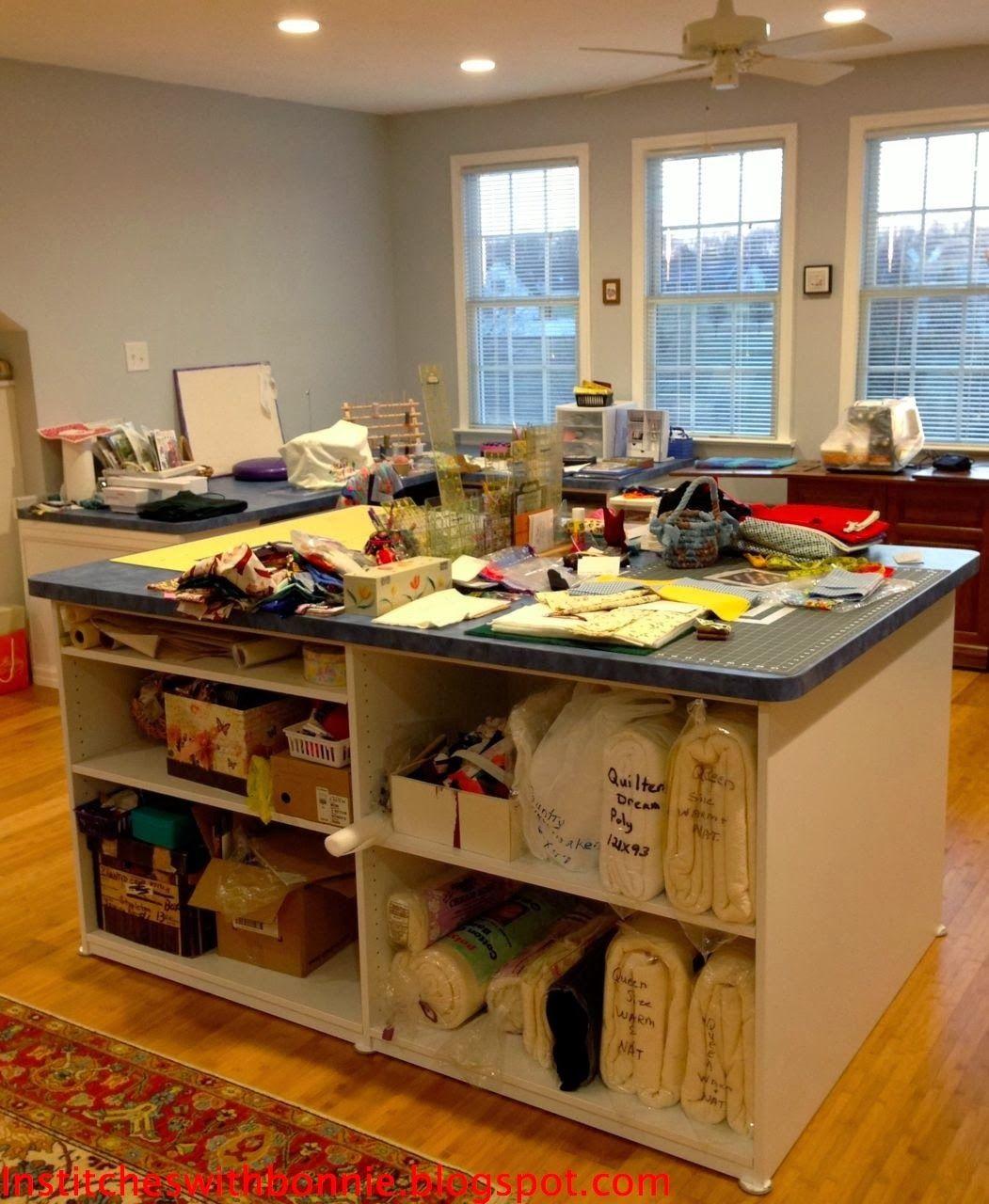 Diy sewing table ikea battingstoragenewg   diy sewing room  pinterest