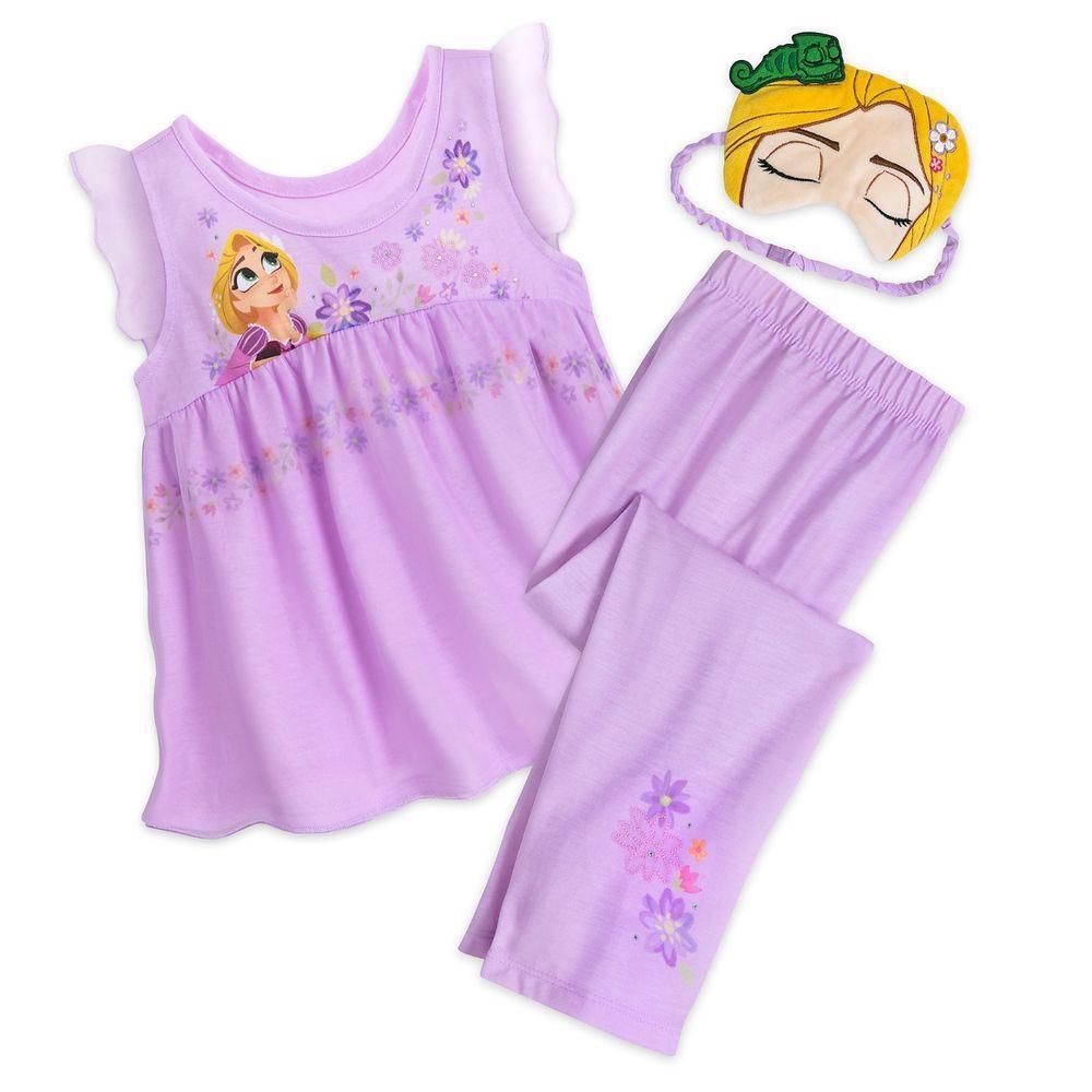 cad6dc7d40 Rapunzel Deluxe Disney Princess Tangled PJ Set with Mask Disney Size 9 10   Disney  PajamaSet