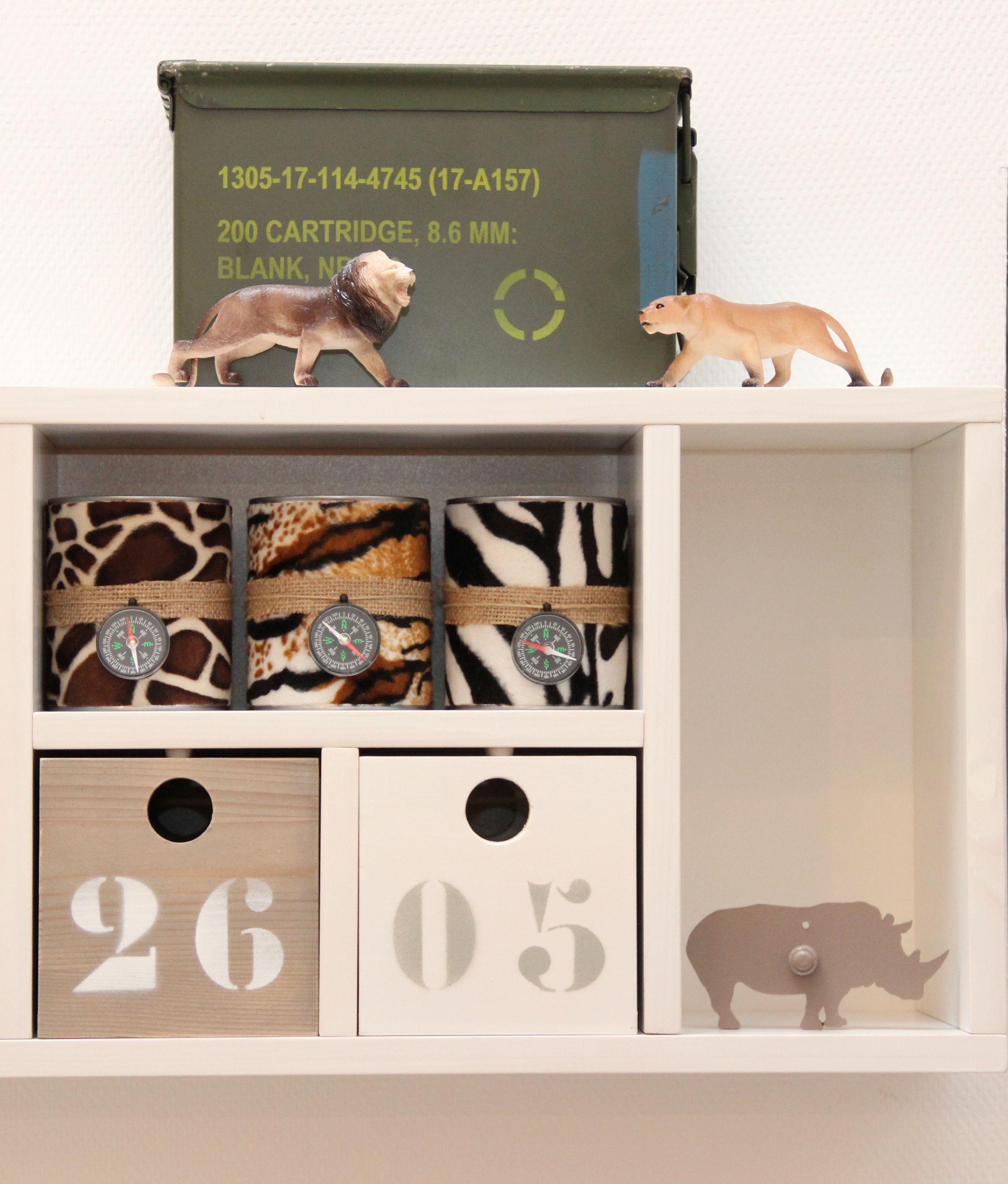 Kinderkamer accessoires van Kidsware voor een jongenskamer met een safari thema.