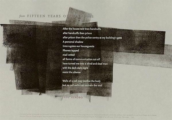 "Saray Langworthy: artist book on Liu Xiaobo: ""fifteen years of darkness"""