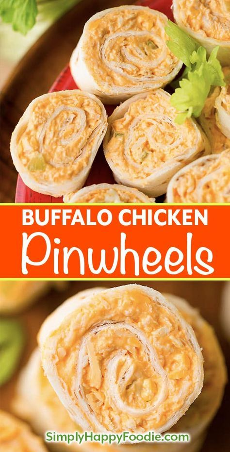 Buffalo Chicken Pinwheels | Simply Happy Foodie