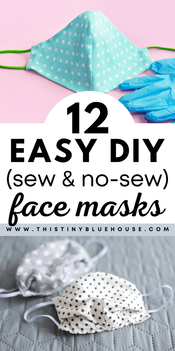 12 Best Easy DIY Face Mask Tutorials (Sew & No Sew Varieties)