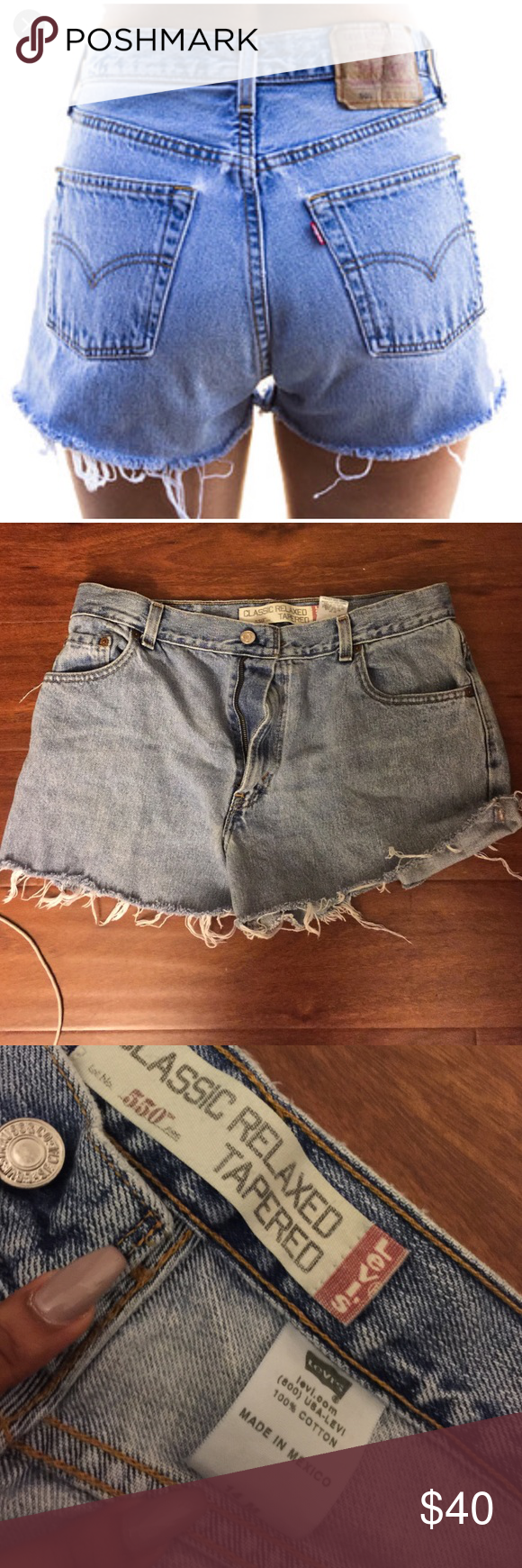 Vintage Levi Shorts Never worn by me. Measures 17 inches flat. NO TRADES Levi's Shorts Jean Shorts